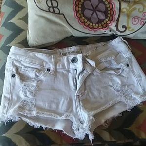 White cut off shorts